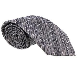 Missoni Diagonal Textured Grey Woven 100% Silk Tie