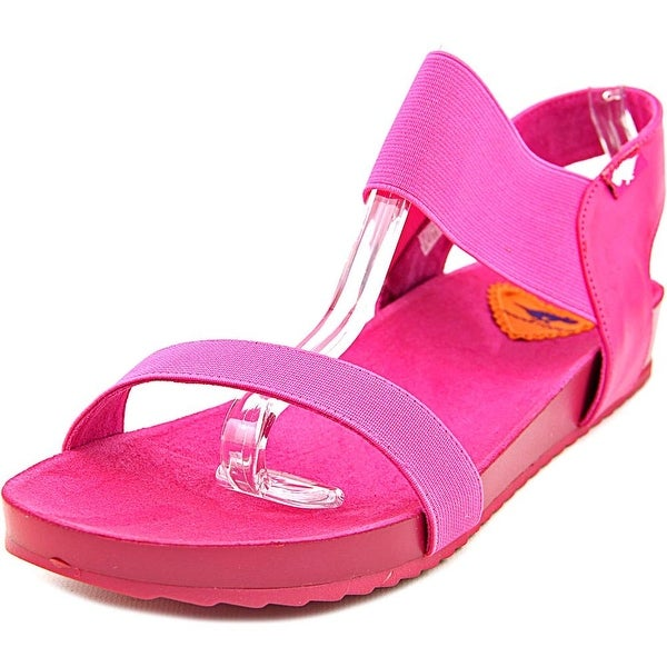 Rocket Dog Fujifl Women Open-Toe Canvas Pink Slingback Sandal