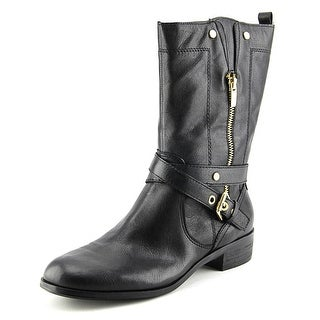 Marc Fisher Dolca Round Toe Synthetic Mid Calf Boot