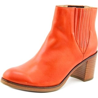 Wolverine Arc Women Round Toe Leather Orange Ankle Boot