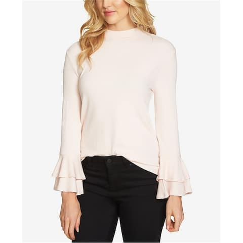 1.State Womens Bell Sleeve Knit Blouse