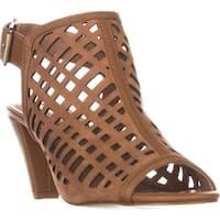 Tahari Womens Evalyn Leather Open Toe Casual Slingback Sandals