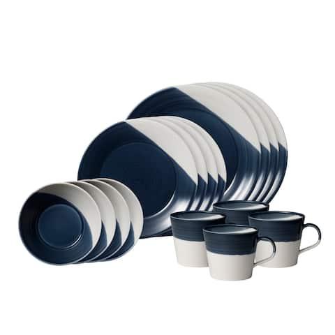 Bowls of Plenty 16-Piece Set Dark Blue