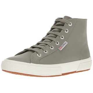 SUPERGA Womens fglu Leather Hight Top Lace Up Fashion Sneakers