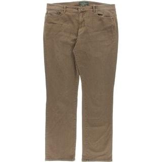 LRL Lauren Jeans Co. Womens Classic Rise Slimming Straight Leg Jeans