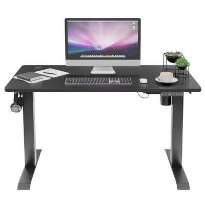 Futzca Height Adjustable Electric Standing Desk Sit Stand Computer Stand up Desk with Splice Board
