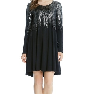 Karen Kane NEW Black Women's Size XL Shift Shimmer Stretch Dress