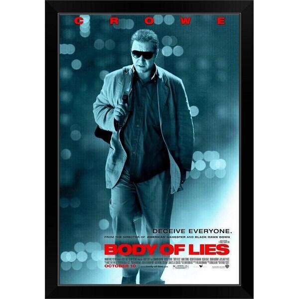 """Body of Lies - Movie Poster"" Black Framed Print"