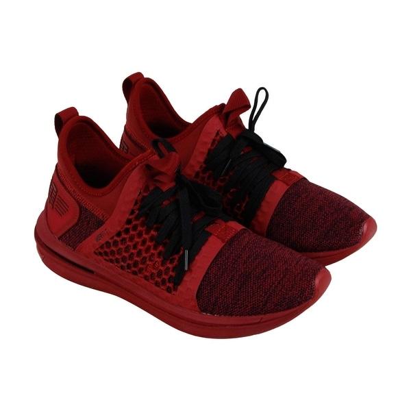 95f8d7c9e844 Puma Ignite Limitless Sr Netfit Mens Red Textile Athletic Training Shoes