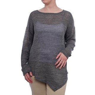 Eileen Fisher Long Sleeve Bateau Neck Tunic Women Regular Sweater