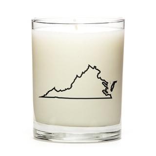 Custom Gift - Map Outline of Virginia U.S State, Lemon