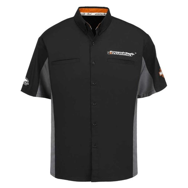 Harley-Davidson Mens Screamin' Eagle Competitor Crew Shirt, Black HARLMW0061
