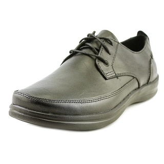 Aetrex Dale Men  Round Toe Leather Black Oxford