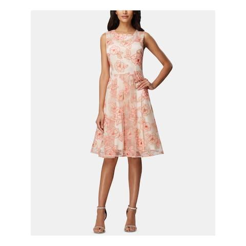 TAHARI Beige Sleeveless Knee Length Dress 10