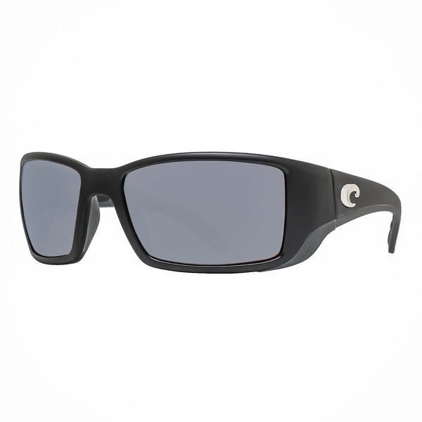 0a333fd65 Costa Del Mar Blackfin BL11OSCP Matte Black 580P Copper Silver Mirror  Sunglasses - MATTE BLACK -