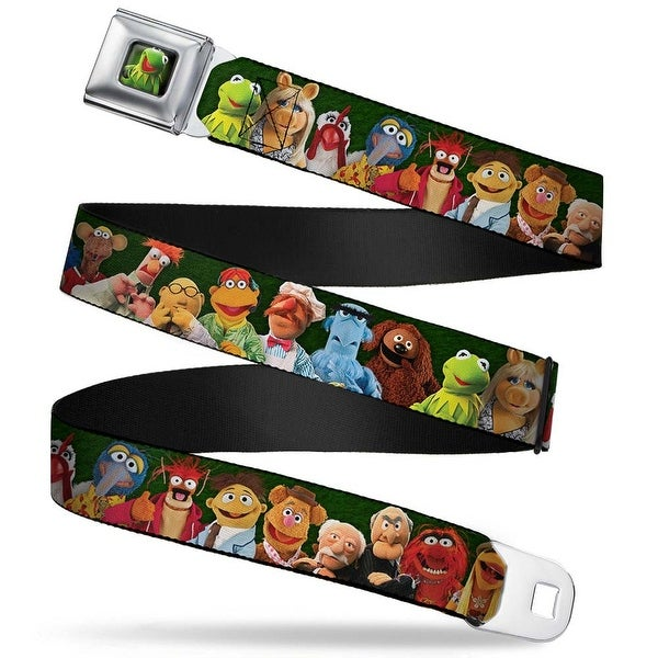 Kermit The Frog Pose Full Color Green Glow Muppets 20 Character Group Pose Seatbelt Belt