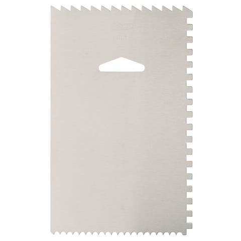 Ateco 4-Sided Aluminum Cake Smoother & Decorating Icing Comb