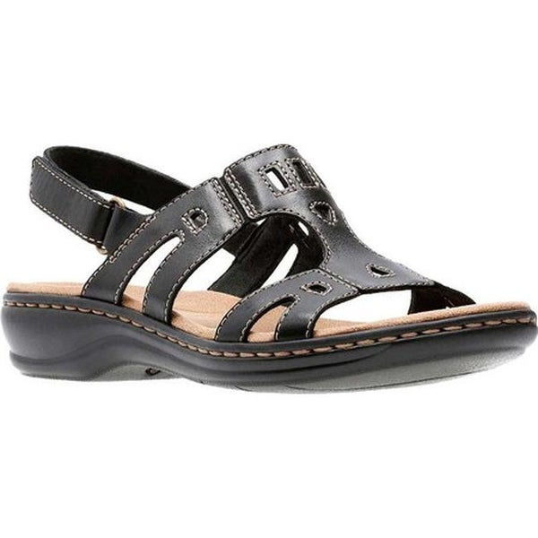 fdd4c06417bc Shop Clarks Women s Leisa Annual Black Leather - On Sale - Free ...