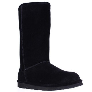 Bearpaw Elle Tall Shearling Lined Water Resistant Winter Boots - Black