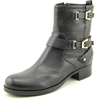 Marc Fisher Vienna Women Round Toe Leather Black Ankle Boot