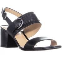 Naturalizer Camden Ankle Strap Block Heel Sandals, Black - 8.5 w us