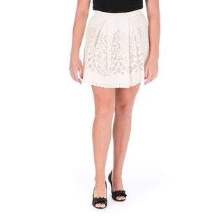Sea New York Womens Lace Eyelet A-Line Skirt - 6