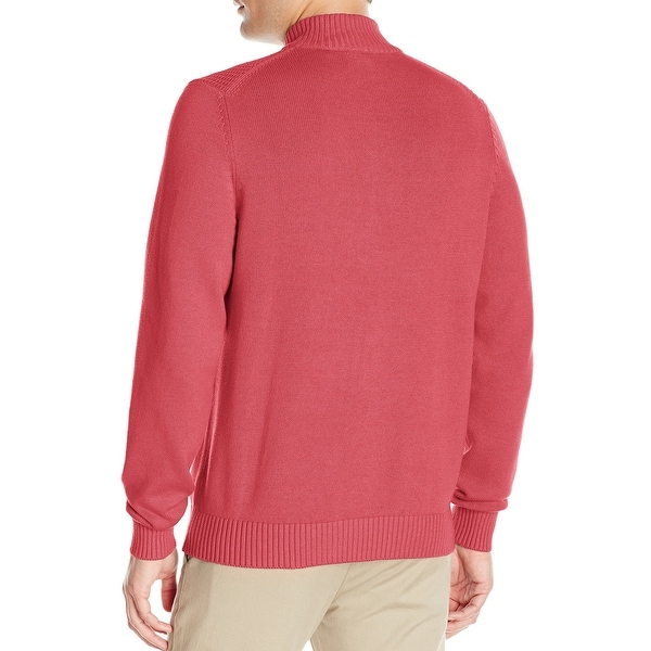IZOD NEW Red Mens Size XL Dual-Texture Quarter Zip Pullover ...