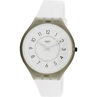 Swatch Skinclass SVUM101 White Silicone Japanese Quartz Fashion Watch
