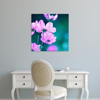 Easy Art Prints PhotoINC Studio's 'Pink Flowers' Premium Canvas Art