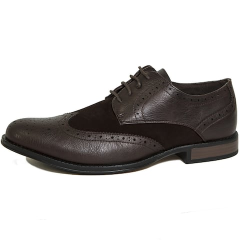 Alpine Swiss Zurich Mens Wing Tip Dress Shoes Lace up Oxfords