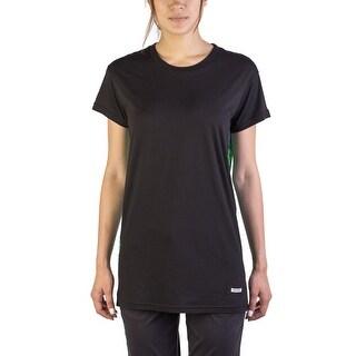 Miu Miu Women's Cotton Silk Blend Floral T-Shirt Black