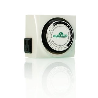 Hydrofarm TM01015D Dual Outlet Analog Grounded Timer