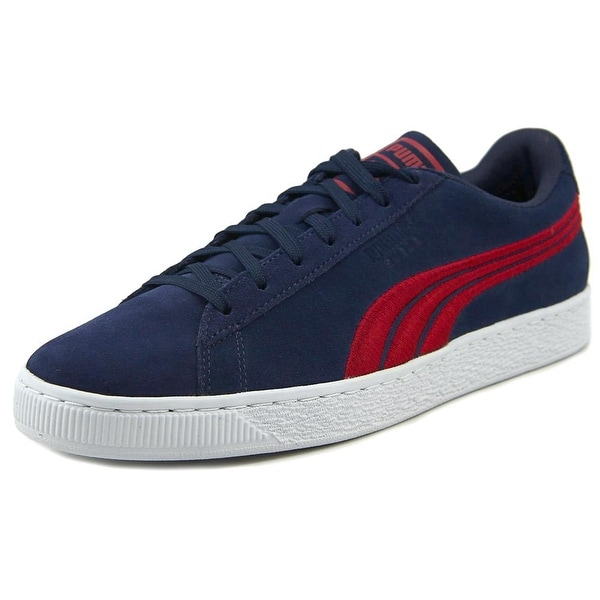 Puma Suede Classic Badge Men Round Toe Suede Blue Sneakers