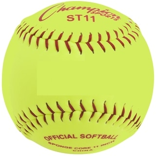 Champion Safety Softball, 11 Inch Yellow, Pack of 12