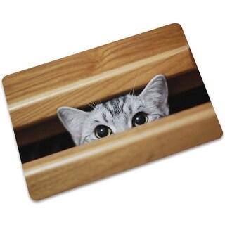 ChezMax Non-slip Doormat Rubber Indoor Outdoor Floor Rug Hello Doormat Large Small Inside Outside Front Door Mat Tatami Mat Cats