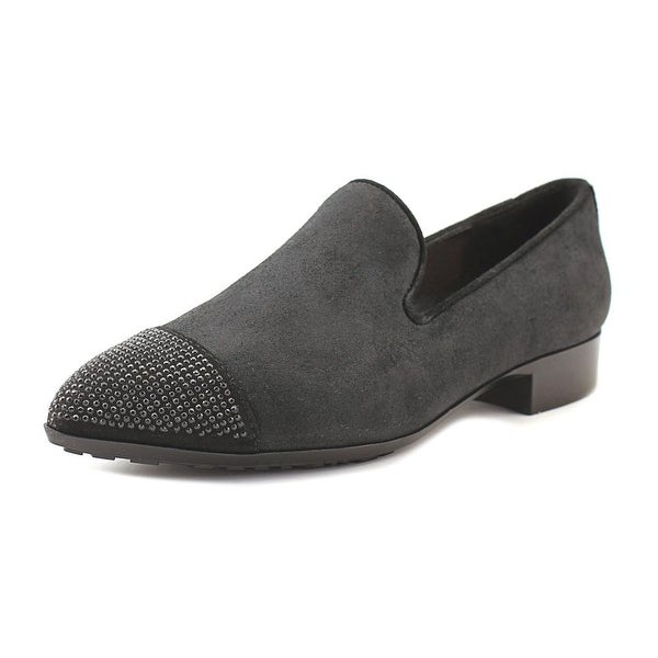 William Rast Orlando Women Pointed Toe Suede Black Loafer