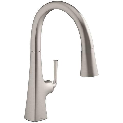 """Kohler K-22062 Graze 17-13/16"""" Pull-Down Single Hole Kitchen Faucet"""