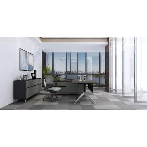 Rye Studio Grey and Black Bovange Large Executive Desk