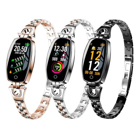 Women Fashion Smart Bracelet Watch With Blood Pressure Heart Rate Sleep Monitor Pedometer Smartwatch APP connect Android IOS