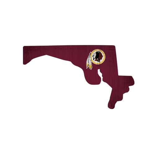 Washington Redskins Sign Wood Logo State Design