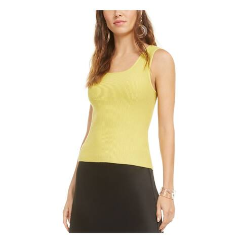 BAR III Womens Green Sleeveless Scoop Neck Tank Sweater Size XS