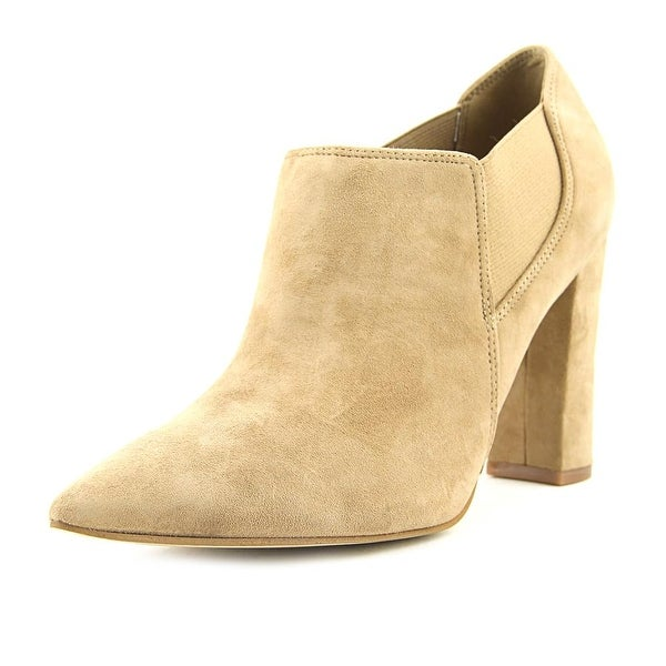 Marc Fisher Hydra Women Pointed Toe Suede Tan Bootie
