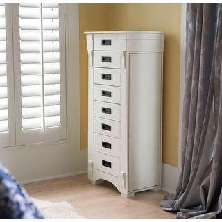 Hives & Honey 6008-349 Mission Standing Jewelry Armoire - White