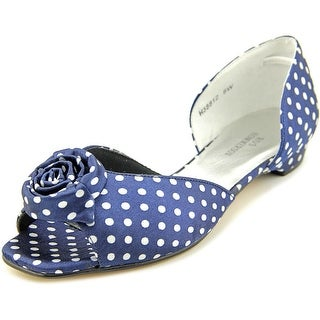 Ros Hommerson Monet Women W Peep-Toe Canvas Flats