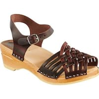 Troentorp Bastad Clogs Women's Anna Original Cola Brown Leather