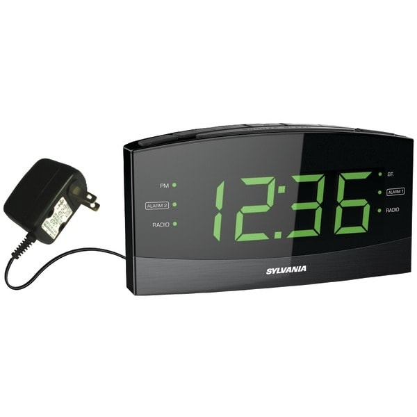 "Sylvania Scr1989Bt 1.8"" Jumbo Digit Alarm Clock Radio With Bluetooth(R)"