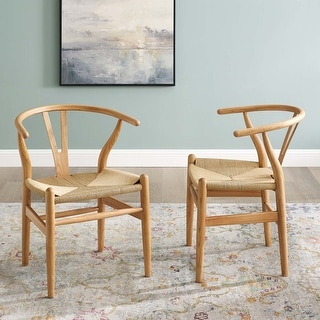 Link to The Curated Nomad Lumos Bamboo Wood and Rope Dining Chairs (Set of 2) Similar Items in Dining Room & Bar Furniture