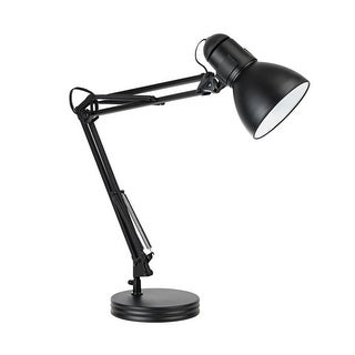 Globe Electric 5698601 Architect 1 Boom Arm Desk Lamp - MATTE BLACK - N/A