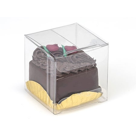 """Pack Of 25, 1 Pc Solid Clear Square Candy Boxes 2 X 2 X 2"""" Holds 1 For Wedding"""