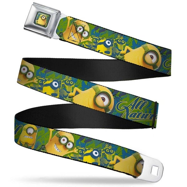 Stuart Au Naturel Pose Full Color Blues Green Minion Prehistoric Period All Seatbelt Belt